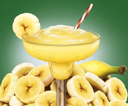 Illustration of a banana daquiri.