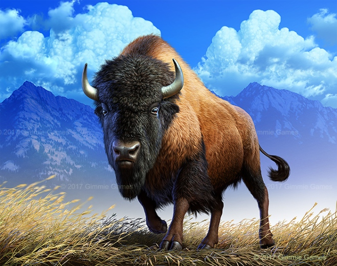 Illustration of an American Bison